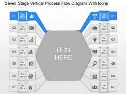gm Seven Staged Vertical Process Flow Diagram With Icons Powerpoint Template