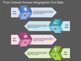Gn Four Colored Arrows Infographics For Data Flat Powerpoint Design