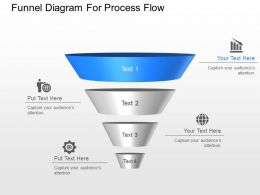 gn Funnel Diagram For Process Flow Powerpoint Template