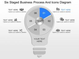 gn Six Staged Business Process And Icons Diagram Powerpoint Template