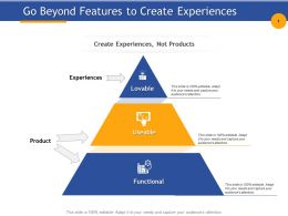 Go Beyond Features To Create Experiences Useable Functional Powerpoint Examples
