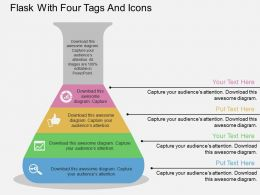 go_flask_with_four_tags_and_icons_flat_powerpoint_design_Slide01
