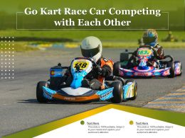 Go Kart Race Car Competing With Each Other