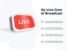 Go Live Icon Of Broadcast