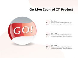 Go Live Icon Of It Project