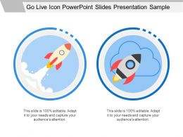 Go Live Icon Powerpoint Slides Presentation Sample