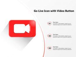 Go Live Icon With Video Button