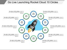 Go Live Launching Rocket Cloud 10 Circles