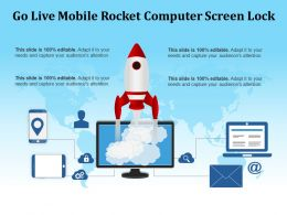 Go Live Mobile Rocket Computer Screen Lock