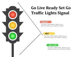 Go Live Ready Set Go Traffic Lights Signal