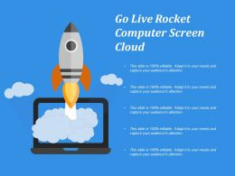Go Live Rocket Computer Screen Cloud
