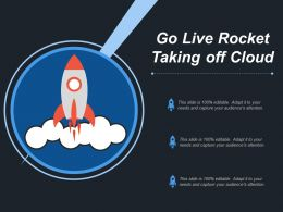 Go Live Rocket Taking Off Cloud