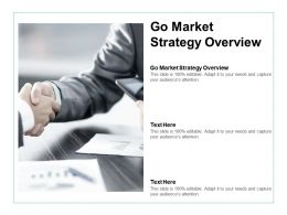 Go Market Strategy Overview Ppt Powerpoint Presentation Summary Mockup Cpb