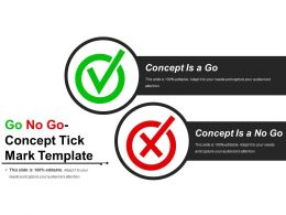 Go No Go Concept Tick Mark Template