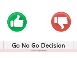 Go No Go Decision Flowchart Development Sourcing Management Assessment