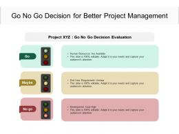 Go No Go Decision For Better Project Management
