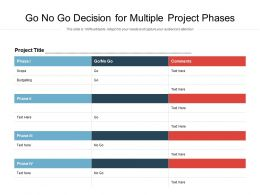 Go No Go Decision For Multiple Project Phases