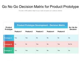Go No Go Decision Matrix For Product Prototype