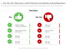 Go No Go Decision With Paid Social Media Advertisement
