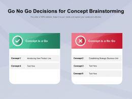 Go No Go Decisions For Concept Brainstorming