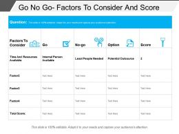 Go No Go Factors To Consider And Score
