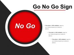 Go No Go Sign