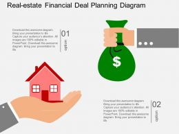 go Realestate Financial Deal Planning Diagram Flat Powerpoint Design