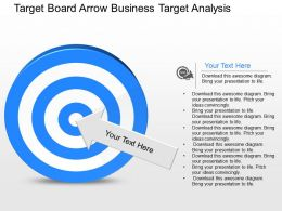 go Target Board Arrow Business Target Analysis Powerpoint Template