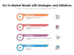 Go To Market Model With Strategies And Initiatives