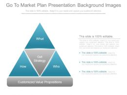 Go To Market Plan Presentation Background Images
