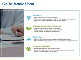 Go To Market Plan Presentation Pictures