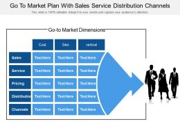 Go To Market Plan With Sales Service Distribution Channels