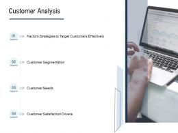 Go To Market Product Strategy Customer Analysis Ppt Icons
