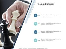 Go To Market Product Strategy Pricing Strategies Ppt Template