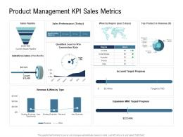 Go To Market Product Strategy Product Management KPI Sales Metrics Ppt Template