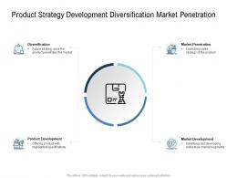Go To Market Product Strategy Product Strategy Development Diversification Market Penetration Ppt Introduction