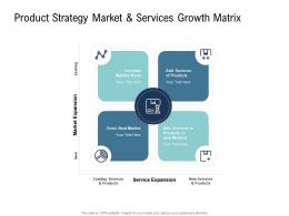 Go To Market Product Strategy Product Strategy Market And Services Growth Matrix Ppt Brochure
