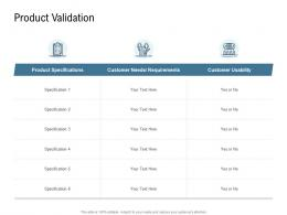 Go To Market Product Strategy Product Validation Ppt Formats