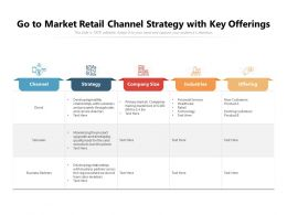 Go To Market Retail Channel Strategy With Key Offerings