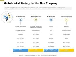 Go To Market Strategy For The New Company Pitch Deck Raise Funding Pre Seed Money Ppt Summary