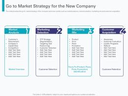 Go To Market Strategy For The New Company Pre Seed Round Pitch Deck Ppt Powerpoint Show