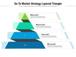 Go To Market Strategy Layered Triangle