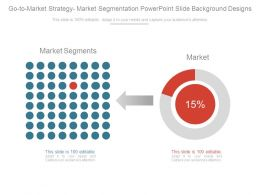 Go To Market Strategy Market Segmentation Powerpoint Slide Background Designs
