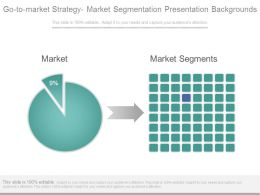 Go To Market Strategy Market Segmentation Presentation Backgrounds