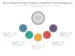 Go To Market Strategy Roadmap Powerpoint Slide Background