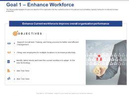 Goal 1 Enhance Workforce Ppt Powerpoint Presentation Ideas Example Introduction