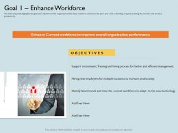 Goal 1 Enhance Workforce To Adapt Ppt Powerpoint Presentation Summary Example Introduction