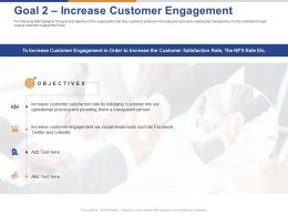 Goal 2 Increase Customer Engagement Ppt Powerpoint Presentation Model Template
