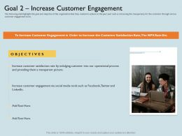 Goal 2 Increase Customer Engagement Twitter Ppt Powerpoint Presentation Slides Picture