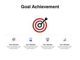 Goal Achievement Arrow Target D278 Ppt Powerpoint Presentation Ideas Deck